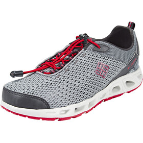 Columbia Drainmaker III Scarpe Bambino, grey ash/mountain red